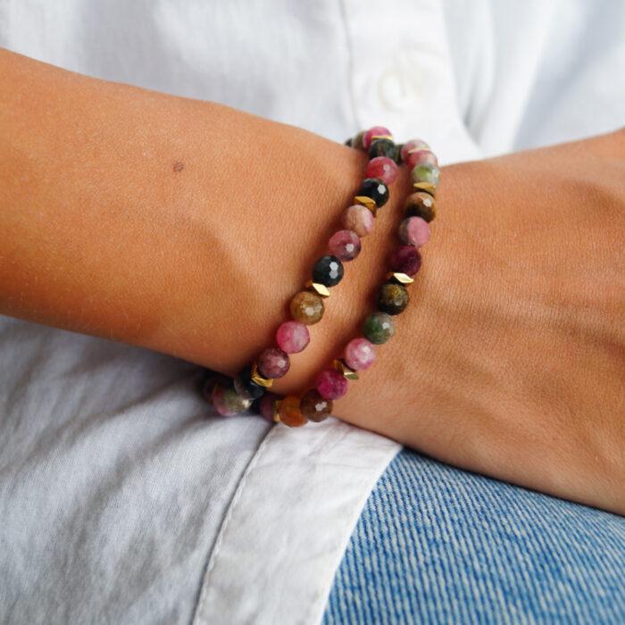 bransoletka z kolorowego turmalinu